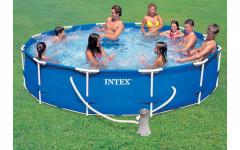 Бассейн каркасный + фильтр-насос 366х76см Intex 28212