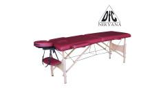 Массажный стол DFC NIRVANA, Relax, дерев. ножки, цвет винный  (Wine)