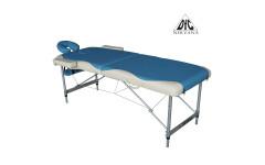 Массажный стол Dfc Nirvana, Elegant Deluxe, 186cm*W70cm*5cm, алюм. ножки, цвет голуб./беж.  (turquose/beige)
