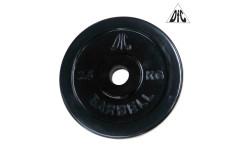 Диск обрезиненный DFC, чёрный 26мм, 2,5кг.